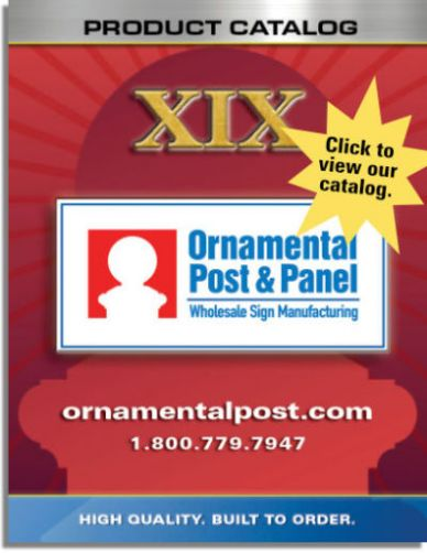 Ornamental Post & Panel Catalog